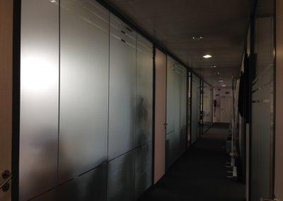 Sablage complet dégradé bureaux ECES